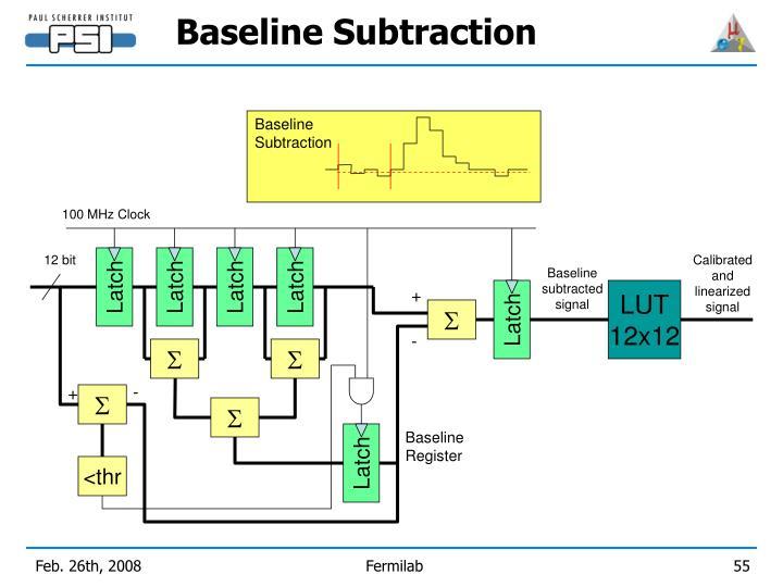 Baseline Subtraction