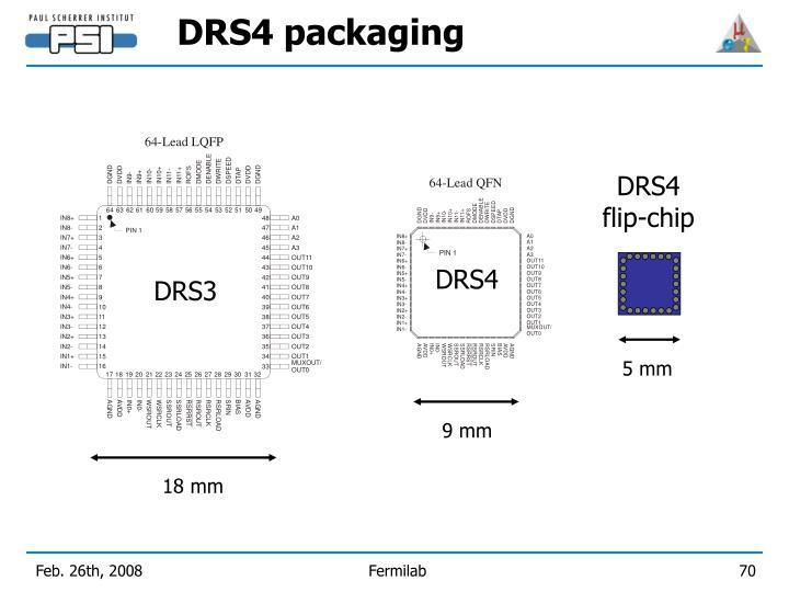 DRS4 packaging