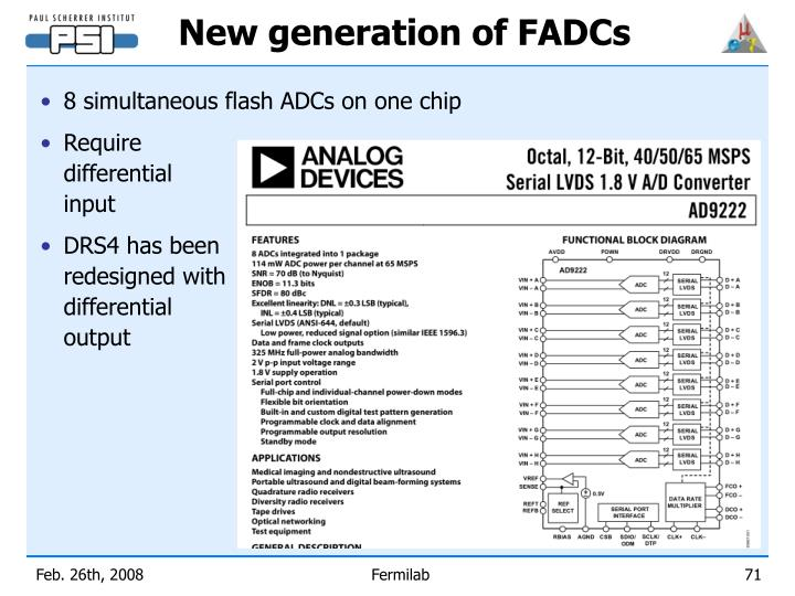 New generation of FADCs