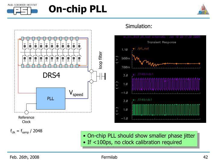 On-chip PLL