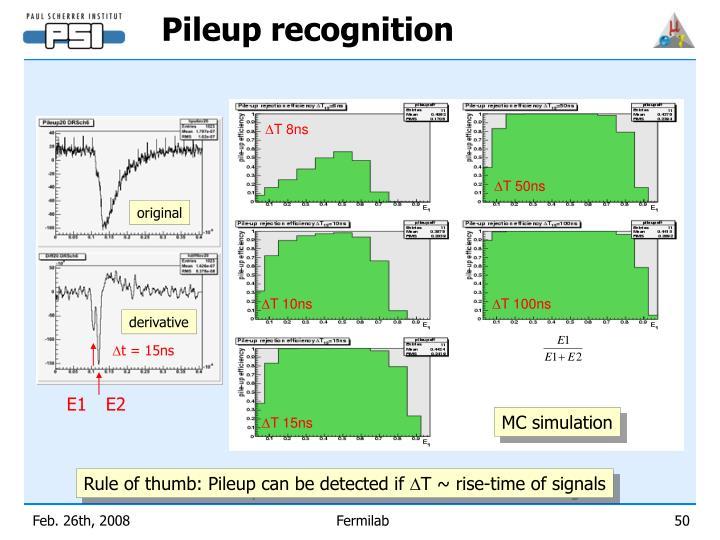 Pileup recognition