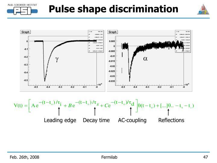 Pulse shape discrimination