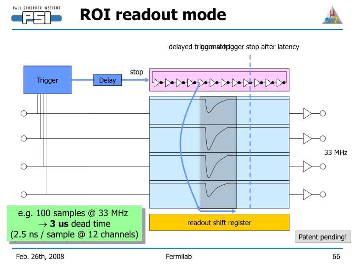 ROI readout mode