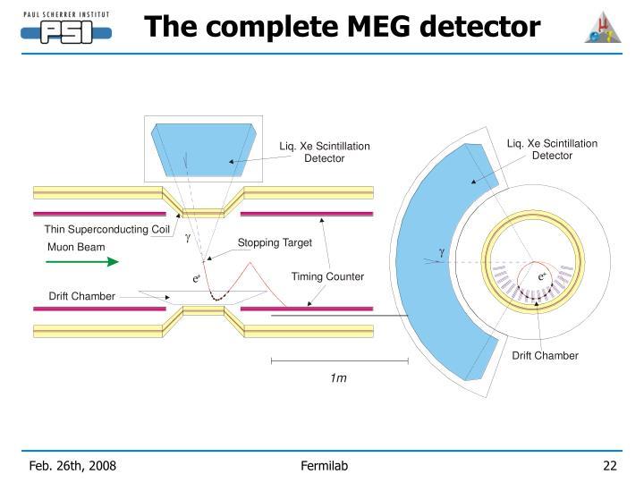 The complete MEG detector