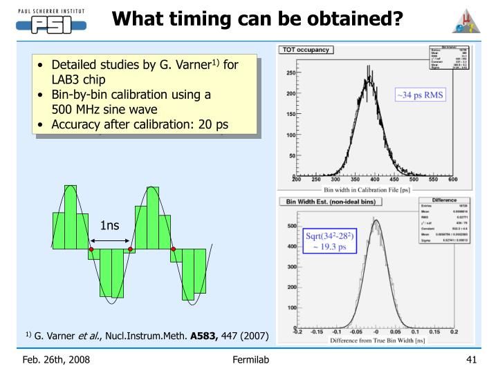 What timing can be obtained?