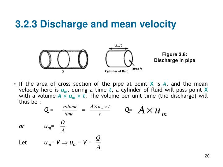 3.2.3 Discharge and mean velocity