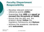 faculty department responsibility