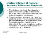 implementation of national academic reference standards2