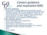 careers guidance and inspiration dfe