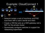 example cloudconnect 11