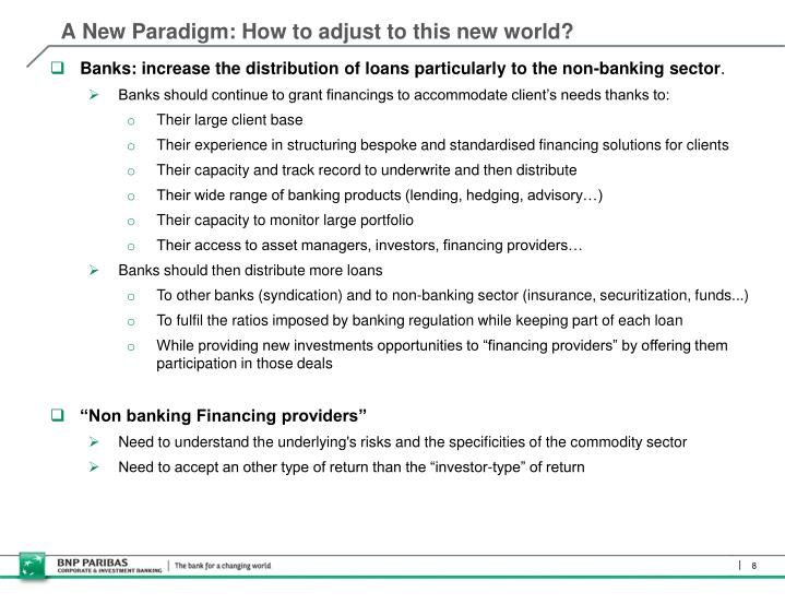 A New Paradigm: How to adjust to this new world?