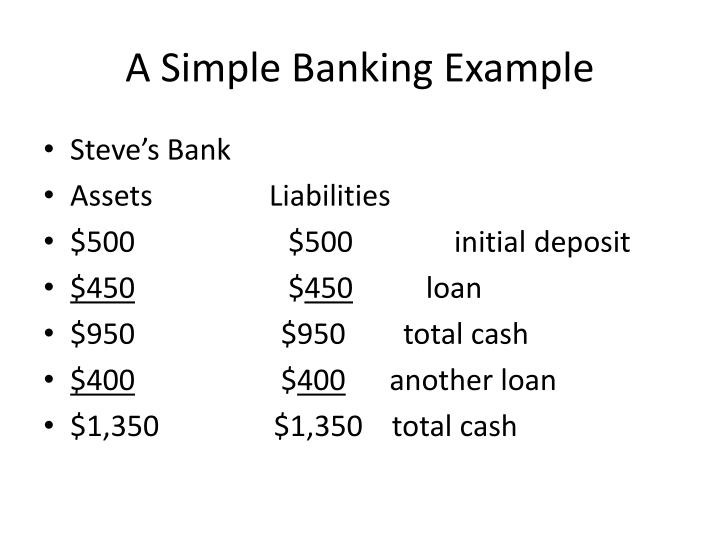 A Simple Banking Example