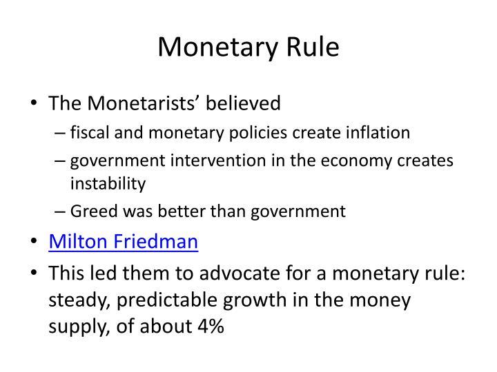 Monetary Rule