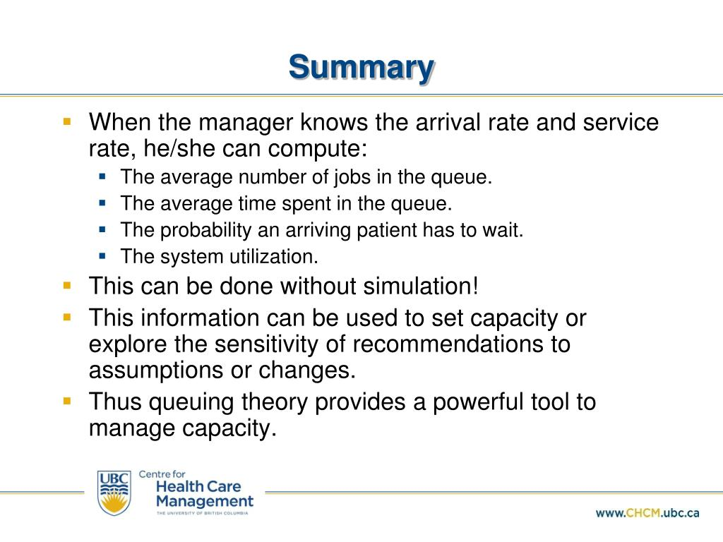 PPT - Capacity Setting and Queuing Theory PowerPoint