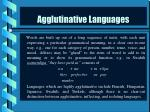 agglutinative languages