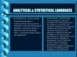 analytical synthetical languages