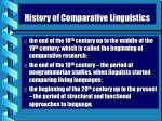 history of comparative linguistics