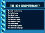 the indo european family