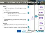 task 7 liaison with rscs eea dg env and mss