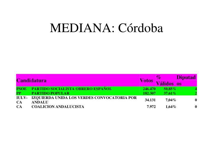 MEDIANA: Córdoba