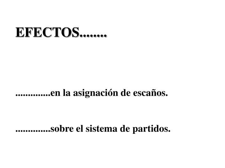 EFECTOS........
