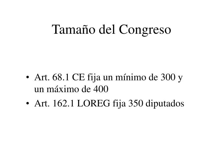 Tamaño del Congreso