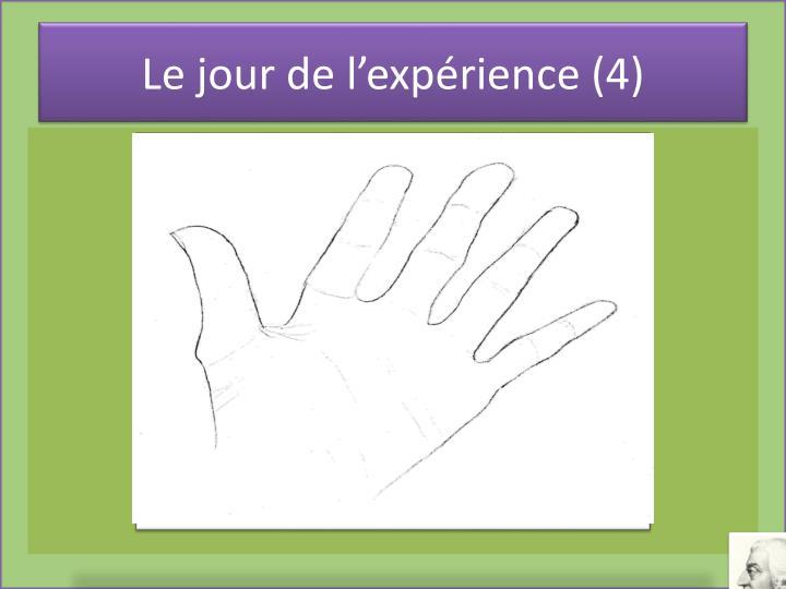 Le jour de l'expérience (4)