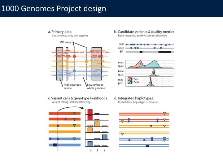 1000 Genomes Project design