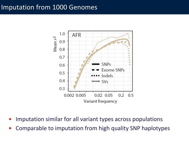 Imputation from 1000 Genomes
