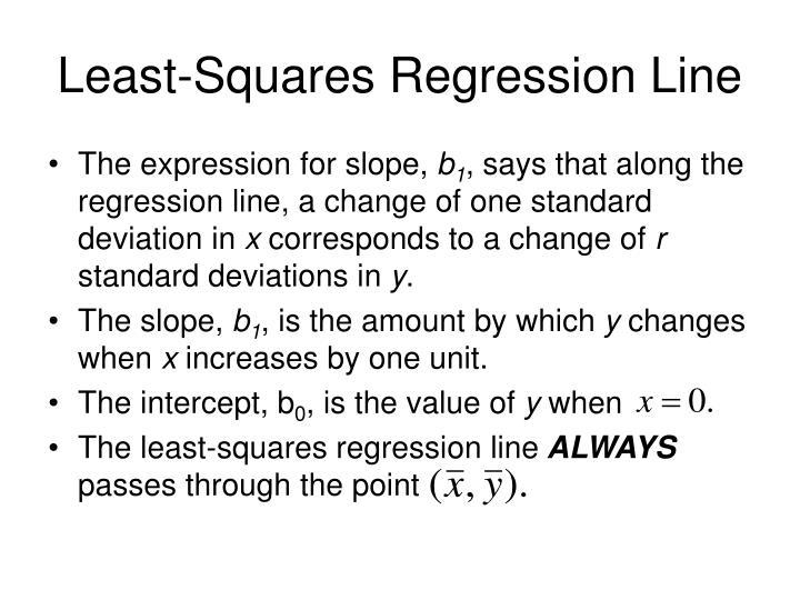 Least-Squares Regression Line