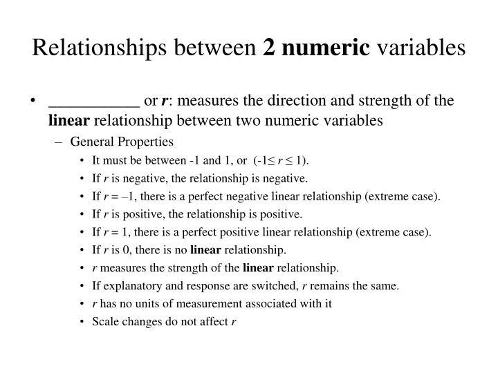 Relationships between