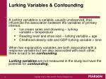 lurking variables confounding