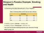 simpson s paradox example smoking and health