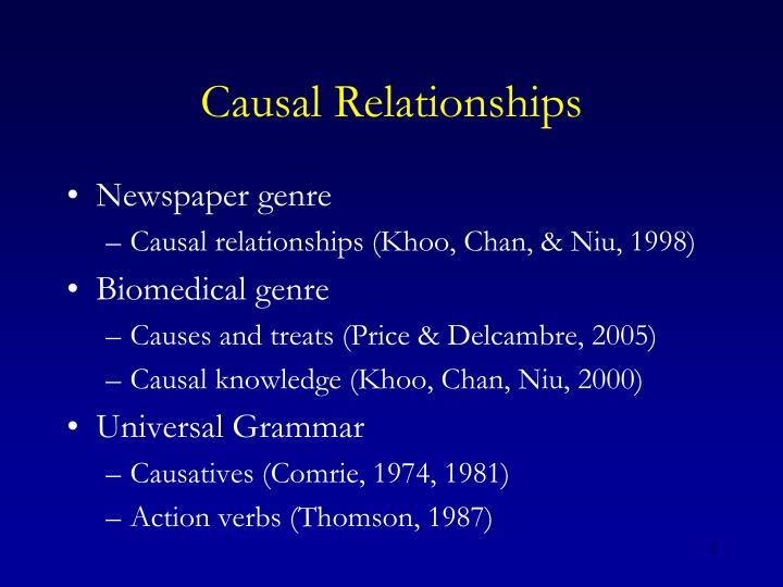 Causal Relationships