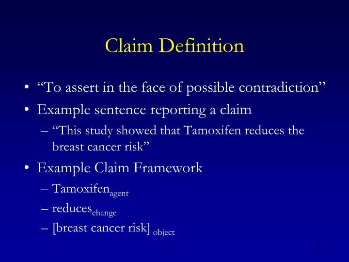 Claim Definition
