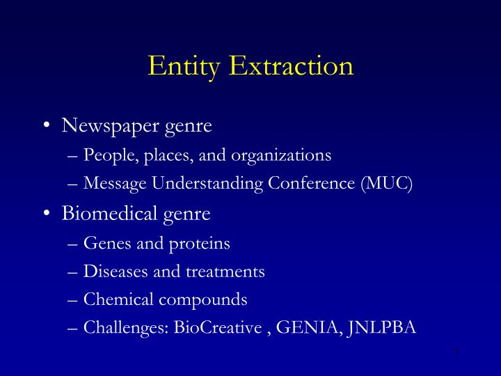 Entity extraction