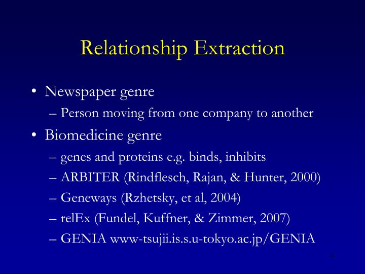 Relationship Extraction