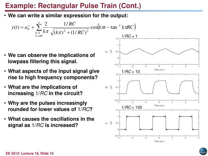 Example: Rectangular Pulse Train (Cont.)