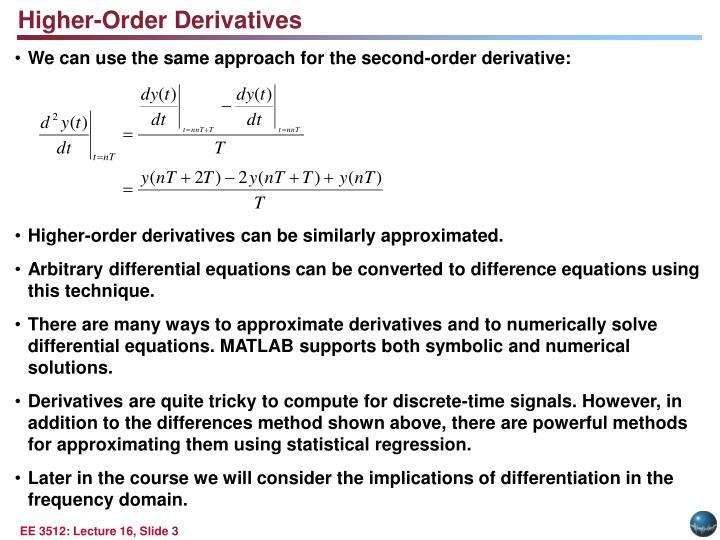 Higher-Order Derivatives