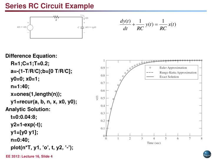 Series RC Circuit Example