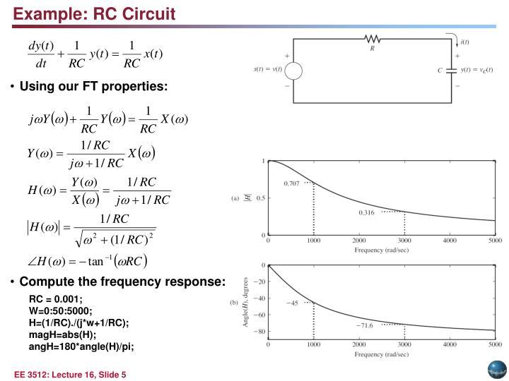 Example: RC Circuit