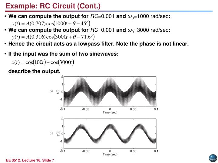 Example: RC Circuit (Cont.)