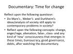 documentary time for change