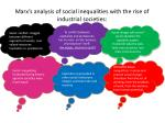 marx s analysis of social inequalities with the rise of industrial societies