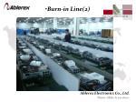 burn in line 2