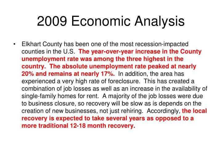 2009 Economic Analysis
