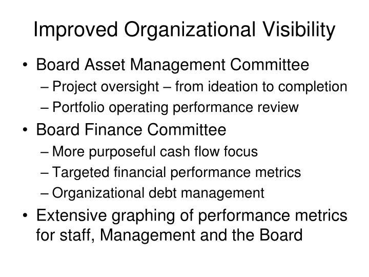 Improved Organizational Visibility