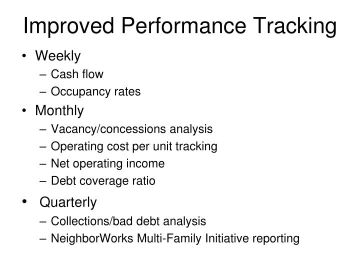 Improved Performance Tracking