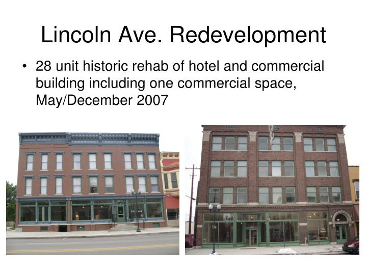 Lincoln Ave. Redevelopment
