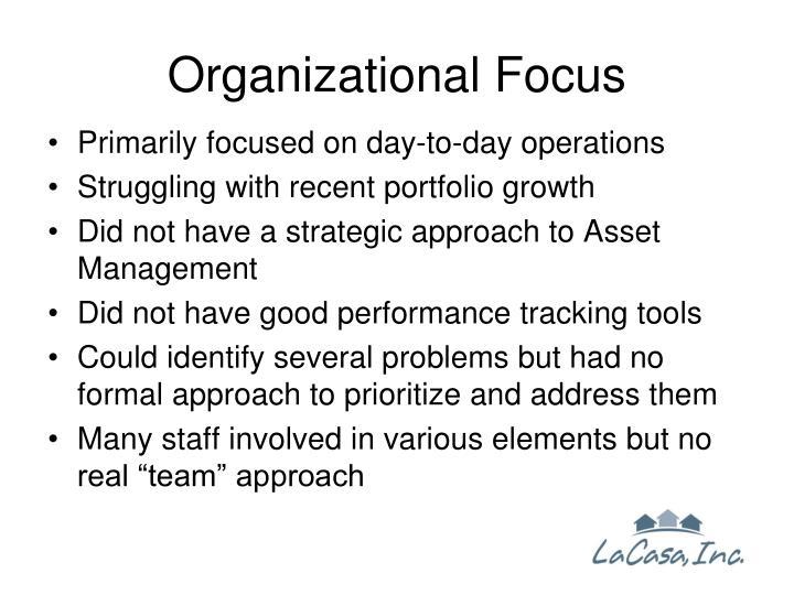 Organizational Focus